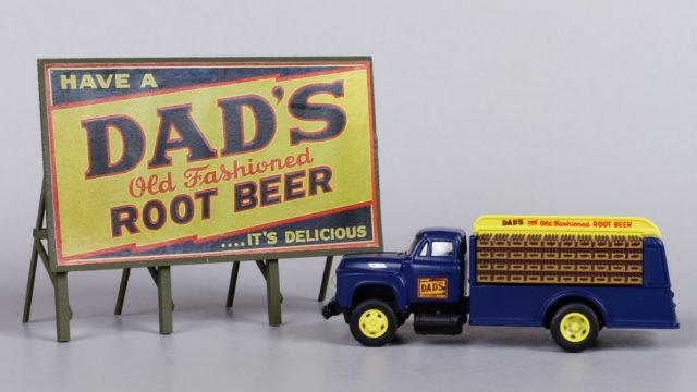 Dad's Root Beer Truck and Billboard