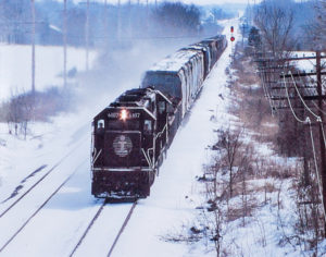 Illinois Central in Snow